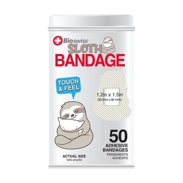 Sloth Bandages - 50 Count Tin