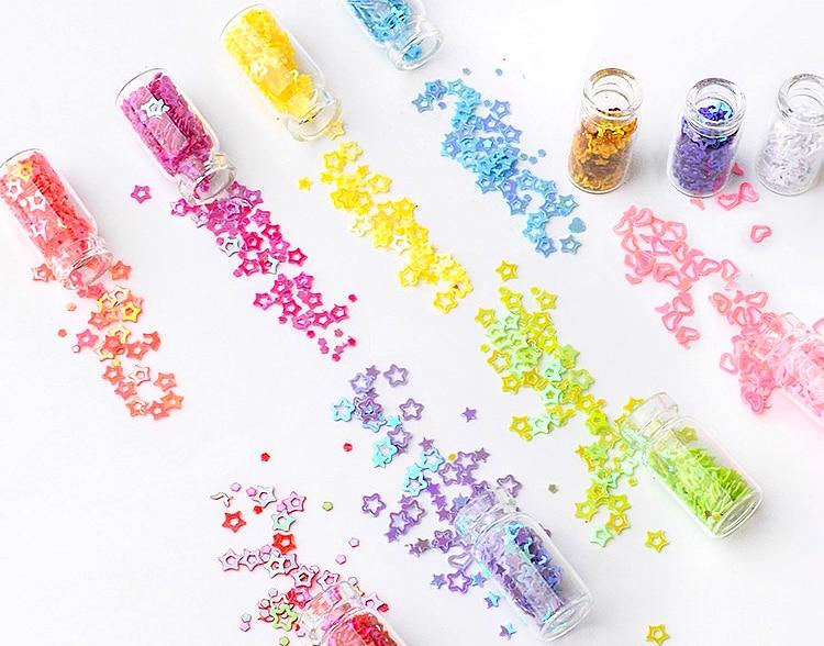 48 Nail Art Glitters, Flakes & Decorations Kit