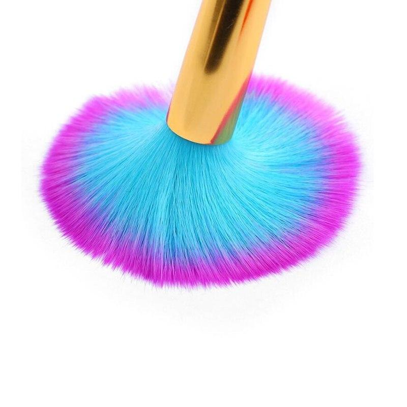Dusting Brush Soft Hair Coloured Fancy Handle