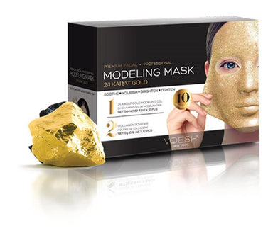 Facial Mask - 24 Karat Gold Collagen Voesh10 Packs