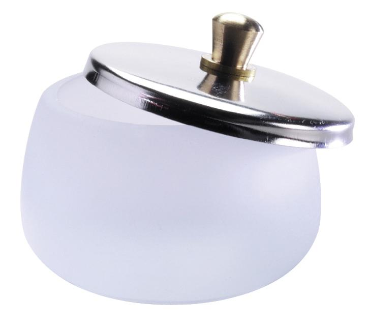 Frosted Glass Dappen Dish Jar 30ml with Stainless Steel Lid