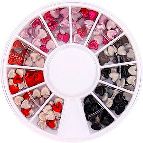 Nail Art Decoration Beads & Shapes Wheel W990