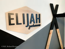 Load image into Gallery viewer, 3D Birch Hexagon Nursery Sign