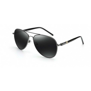 Aviator Polarized Sunglasses Gun Metal Gray