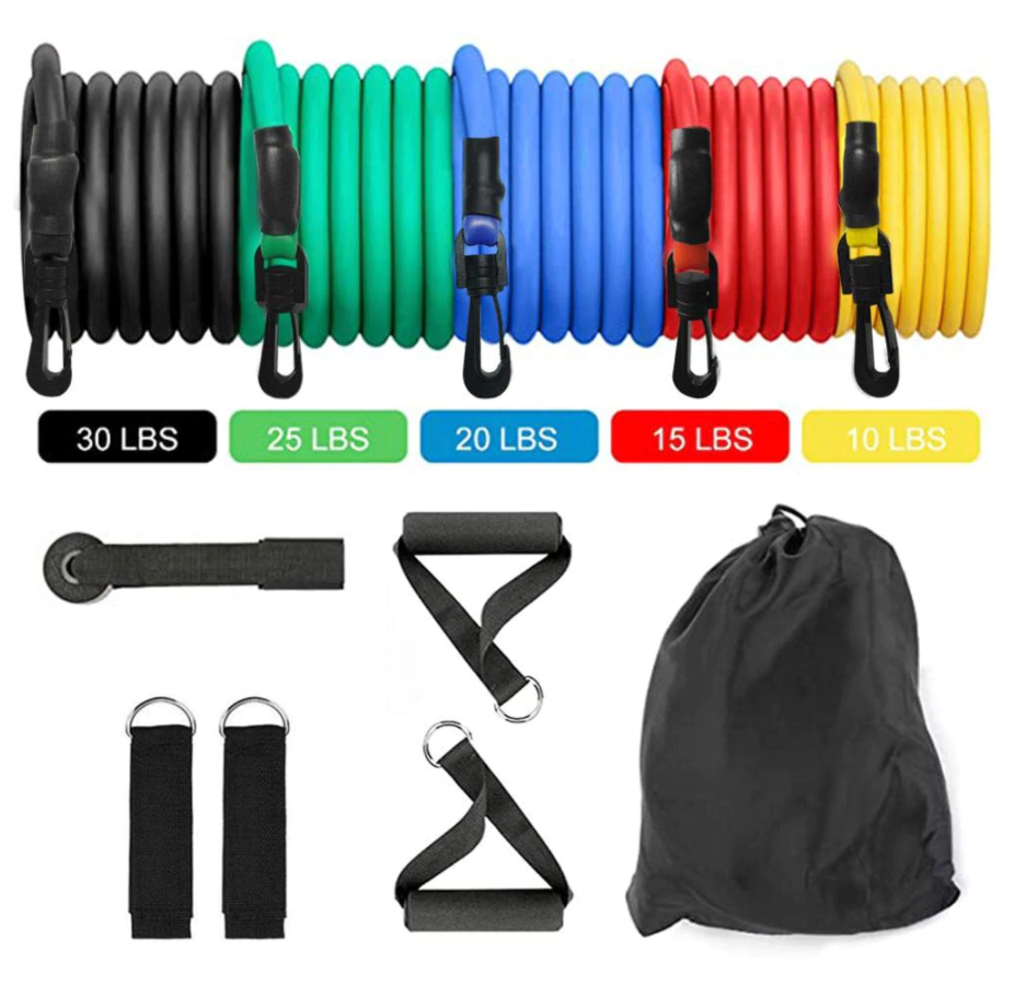 Best Resistance Bands Exercise Elastic Tube Set Stretch Fitness Workout