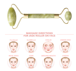 Best Jade Roller Face Stone Lymphatic Drainage Massage Gua Sha Facial Tool