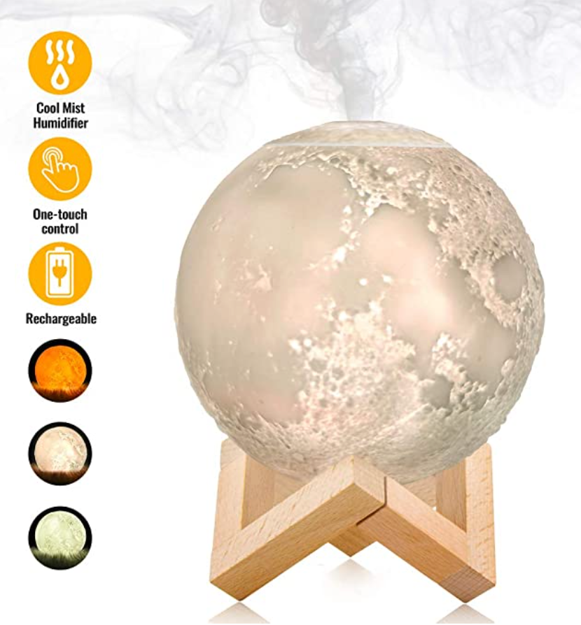 Aromatherapy Moon Lamp Essential Oil Diffuser 880ML