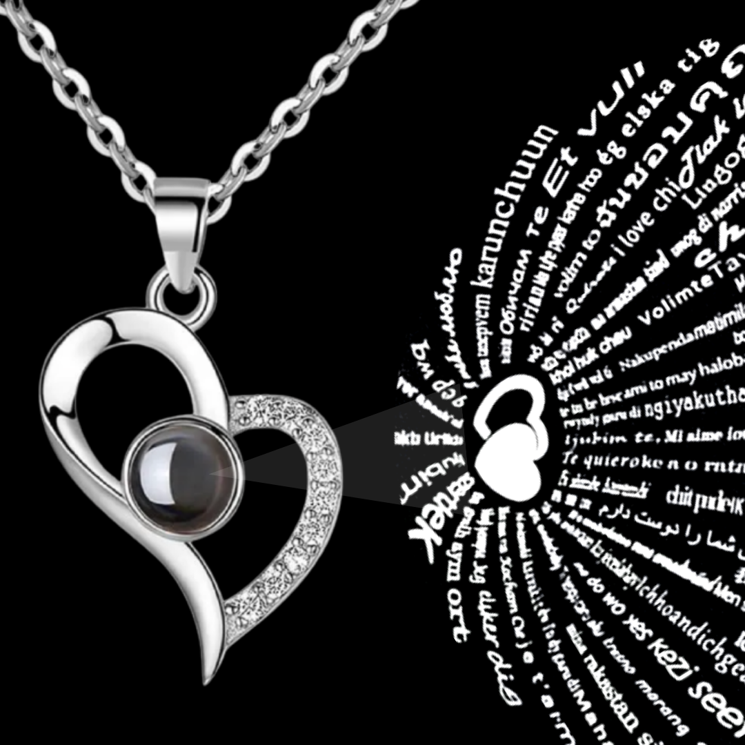 I Love You Necklace In 100 languages Projection Pendant Anniversary Wedding Gift