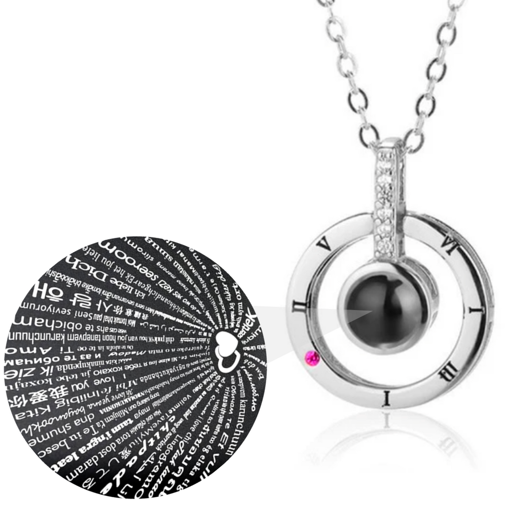 I Love You Necklace Projection That Says I love You In 100 Languages Anniversary Gifts For Her
