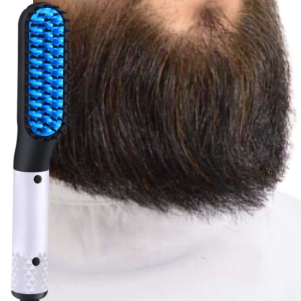 New 2.0 Heated Beard Straightener Comb Brush