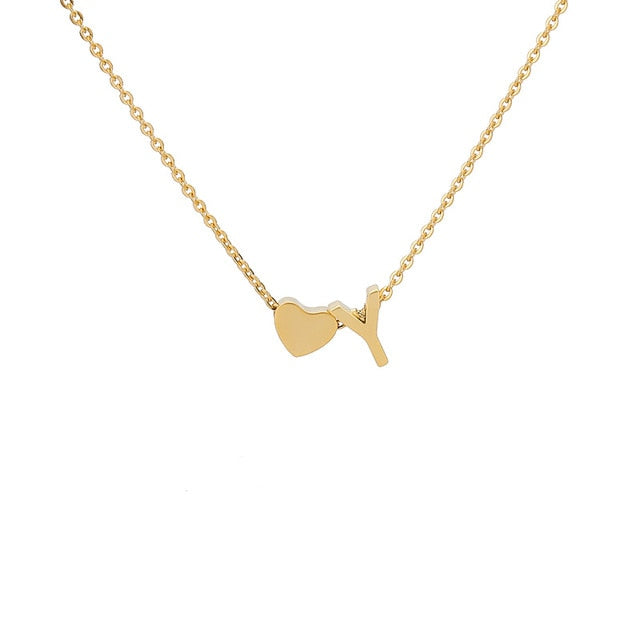 Letter Initial Necklace Pendant C
