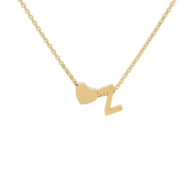 Letter Initial Necklace Pendant Z