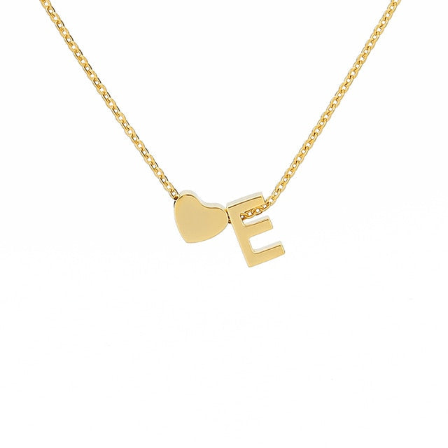 Letter Initial Necklace Pendant E