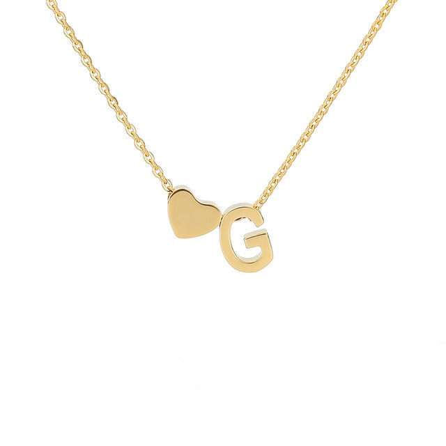 Letter Initial Necklace Pendant G