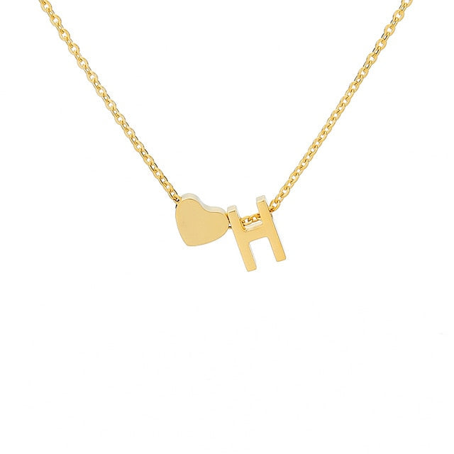 Letter Initial Necklace Pendant H