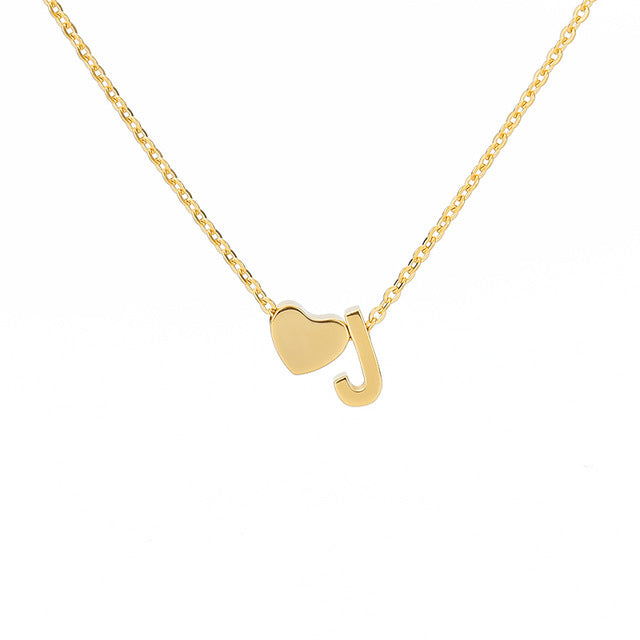 Letter Initial Necklace Pendant J