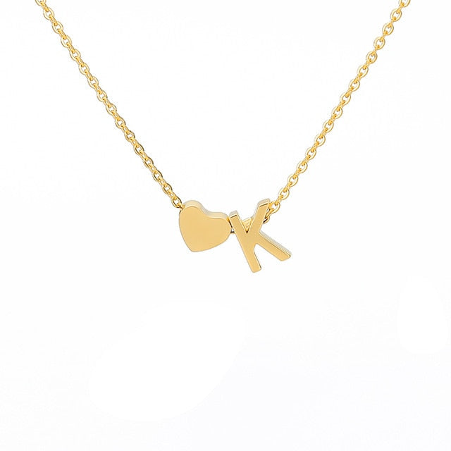 Letter Initial Necklace Pendant K