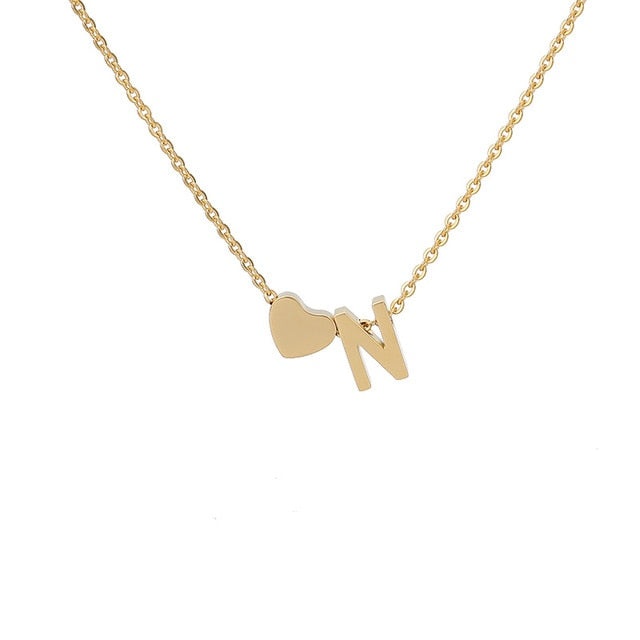 Letter Initial Necklace Pendant N