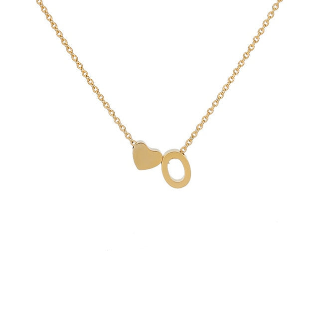 Letter Initial Necklace Pendant O