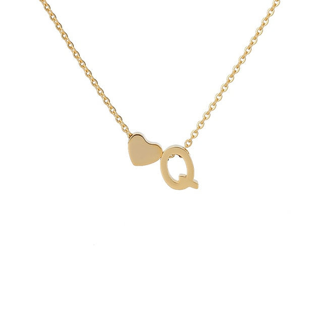 Letter Initial Necklace Pendant Q