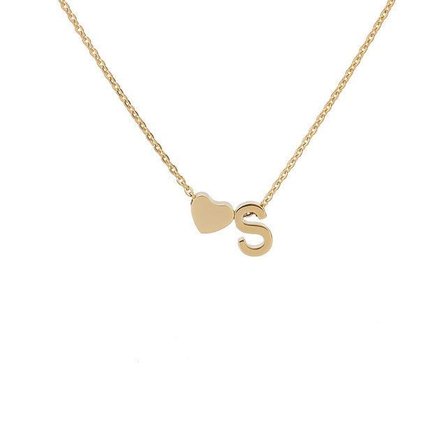 Letter Initial Necklace Pendant S