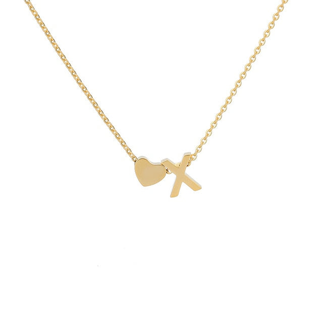 Letter Initial Necklace Pendant X
