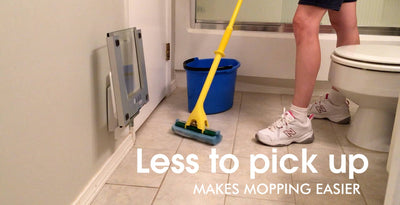 Makes mopping easier with less to pick up