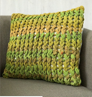 Basha Chunky knit cushion covers, 18x18""