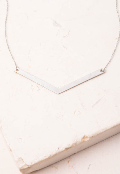 Sane--Silver geometric pendant necklace