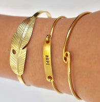 Faith, Hope, and Love Bangles