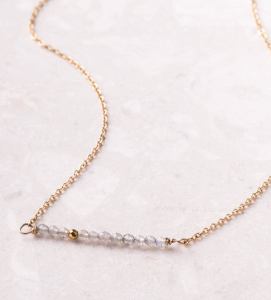 Elliot-Crystal Bead Bar Necklace