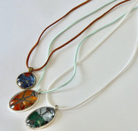 Typical Fabric Pendant Necklace
