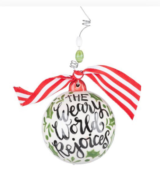 A Thrill of Hope Holly Ornament