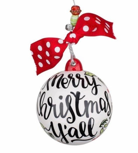 Merry Christmas Y'all Ball Ornament