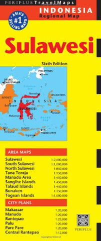 Sulawesi Travel Map Sixth Edition (Periplus Travel Maps: Indonesia Regional Map)