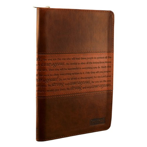 Strong And Courageous Zippered Flexcover Journal