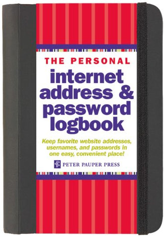 The Personal Internet Address & Password Log Book