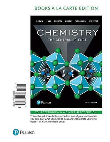 Chemistry: The Central Science, Books A La Carte Edition (14Th Edition)