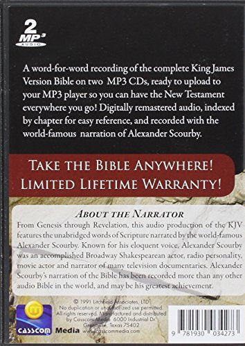 Kjv Comp Scourby Mp3 2 Cds Alexander Scourby-King James Version-Complete  Audio Holy Bible-Mp3-2 Discs-Audiobook, Mp3 Digital     Birth-