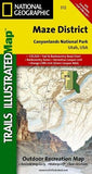 Maze District: Canyonlands National Park (National Geographic Trails Illustrated Map)