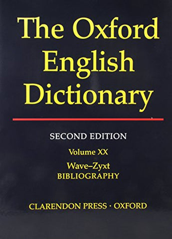 Oxford English Dictionary Edition Volume 20