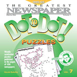 Greatest Newspaper Dot-To-Dot Puzzles (Vol. 7) - Father'S Day Gift Ideas For Dad - Mini Travel Size (5.5 X 5.5)