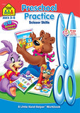 Preschool Practice Scissors Skills Workbook, Ages 3-5, Playful Learning, Sharpens Fine Motor Skills & Eye-Hand Coordination