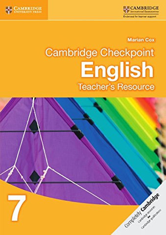 Cambridge Checkpoint English Teacher'S Resource 7 (Cambridge International Examinations)