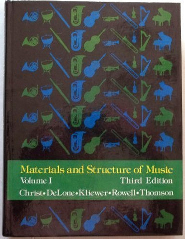 001: Materials And Structure Of Music, Volume I