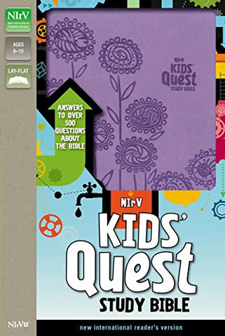 Nirv, Kids' Quest Study Bible, Imitation Leather, Purple: Answers To Over 500 Questions About The Bible