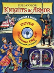 Full-Color Knights And Armour Cd-Rom And Book (Dover Electronic Clip Art)