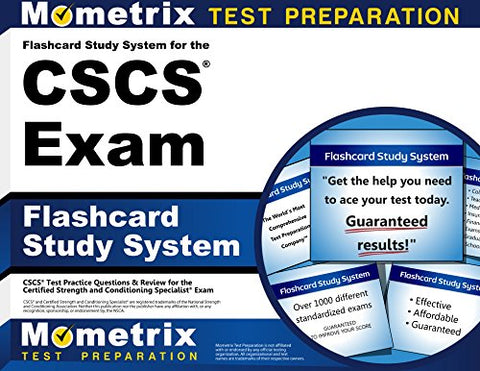 Flashcard Study System For The Cscs Exam: Cscs Test Practice Questions & Review For The Certified Strength And Conditioning Specialist Exam (Cards)