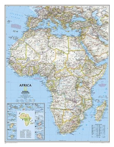 National Geographic: Africa Classic Enlarged Wall Map (35.75 X 46.25 Inches) (National Geographic Reference Map)