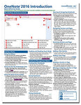 Microsoft Onenote 2016 Introduction Quick Reference Training Tutorial Guide (Cheat Sheet Of Instructions, Tips & Shortcuts - Laminated Card)